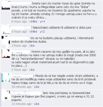 Komentari sa facebook grupe